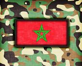 picture of ami  - Amy camouflage uniform with flag on it Morocco - JPG