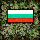 image of ami  - Amy camouflage uniform with flag on it Bulgaria - JPG