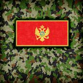 picture of ami  - Amy camouflage uniform with flag on it Montenegro - JPG