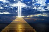 Ladder Leading Upward To Heaven