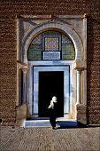 Door And Woman Great Mosque