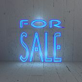 Illuminated For Sale icon in a stylish background