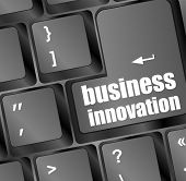 Business Innovation - Business Concepts On Computer Keyboard