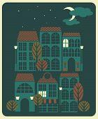Vistas a la ciudad por la noche