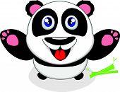 Gelukkig Panda lachen