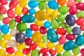 Multicolor bonbon sweets (ball candies) food background, closeup view