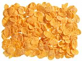 Corn flakes food ingredient background