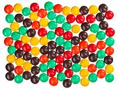 Multicolor bonbon sweets (ball candies) food background