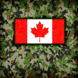 picture of ami  - Amy camouflage uniform with flag on it Canada - JPG