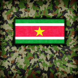 pic of ami  - Amy camouflage uniform with flag on it Suriname - JPG