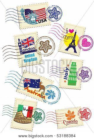 Постер, плакат: Stamp, холст на подрамнике