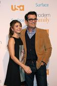 LOS ANGELES - OCT 28:  Sarah Hyland, Ty Burrell at the Modern Family on USA Network Fan Appreciation
