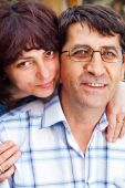 pic of middle-age  - Family happy couple portrait  - JPG