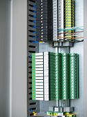 picture of contactor  - A part of cubicle with Distribution Rail terminal and relays - JPG