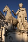 Castor Statue Defender Of Rome Capitoline Hill Rome Italy