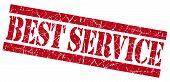 Best Service Grunge Red Stamp