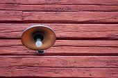 Old Metal Wall Light On Barn