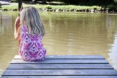 Girl On Pontoon