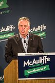 Candidate for Governor for the state of Virginia, Terry McAuliffe