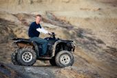 Teen On Quad Atv In The Hills