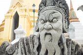 Chinese Stone Statue In Wat Phra Kaeo, Bangkok, Thailand
