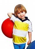 A Boy With A Ball.