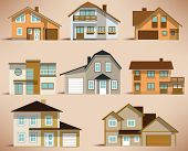 City houses (retro colors)