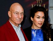 NEW YORK- OCT 20: Actor Patrick Stewart and daughter Sophie Alexandra Stewart attend the Broadway op