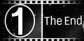 Movie film indicating the end of a film