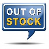 out of stock icon or sign limited edition and final clearance banner
