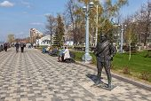 Samara, Russia - May 1: Monument To Comrade Sukhov, The Main Character Of The Movie The White Sun Of