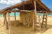 Weathered Wooden Hut