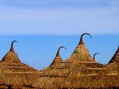 Tops Of Beach Huts