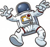 Astronaut clip art. Vector cartoon illustration with simple gradients. All in a single layer.