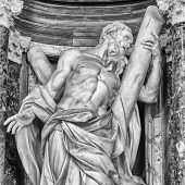 Statue of St. Andrew at the Basilica of St. John Lateran in Rome.