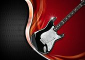 Electric Guitar On Luxury Background