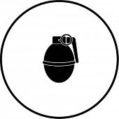 stock photo of grenades  - round hand grenade explosive symbol - JPG