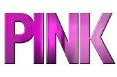 image of mystique  - Pink written in pink letters on mystique background - JPG