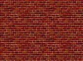 Vector seamless old brick wall background