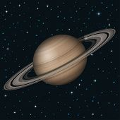 Planet Saturn in space