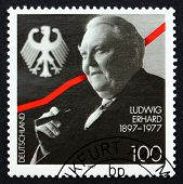 Postage Stamp Germany 1997 Ludwig Erhard, German Politician
