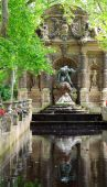 The Medicis Fountain In Luxembourg Gardens, Paris, France