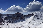 Snow Mountains And Blue Sky With Cloud In Nice Day
