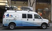 WNBC Channel 4 van in midtown Manhattan