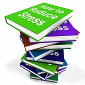 How To Reduce Stress Book Stack Shows Lower Tension