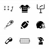 Vector black football icons set