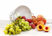Summer Fruits With Ceramic Colander