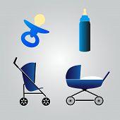 equipment for baby eps10