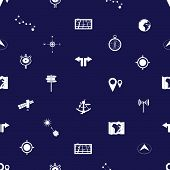 navigation icons pattern eps10