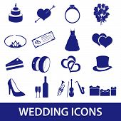 wedding icons set eps10
